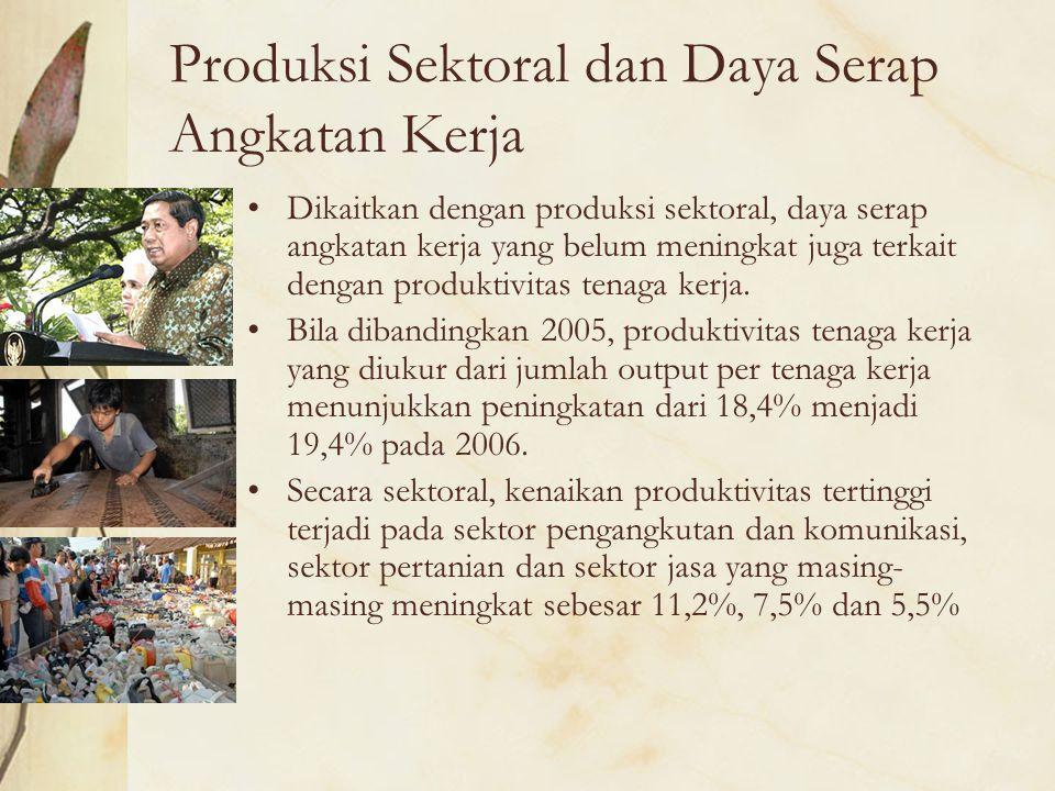 Produksi Sektoral dan Daya Serap Angkatan Kerja