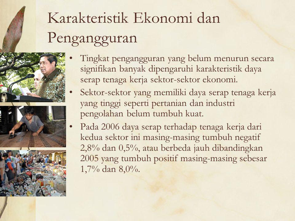 Karakteristik Ekonomi dan Pengangguran