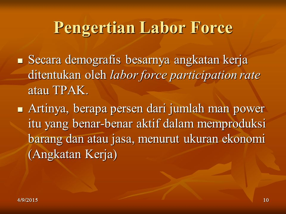 Pengertian Labor Force
