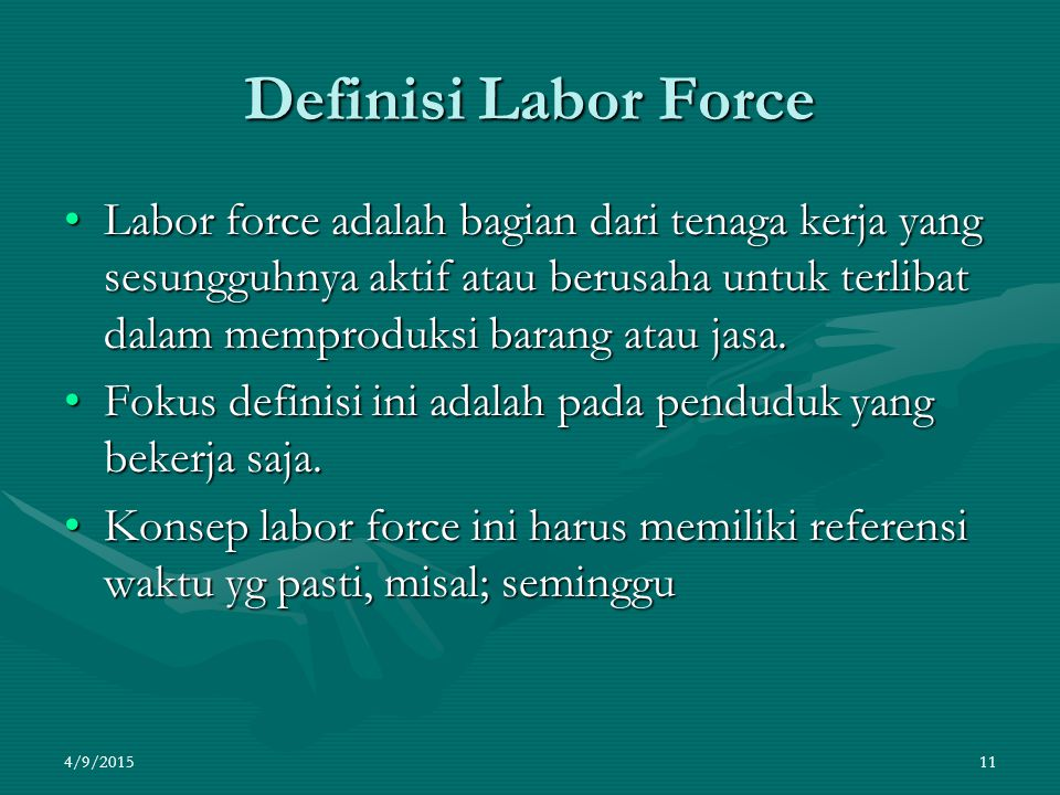 Definisi Labor Force