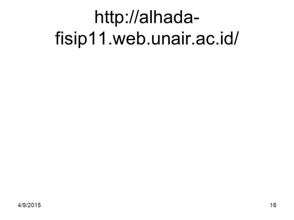 http://alhada-fisip11.web.unair.ac.id/ 4/10/2017