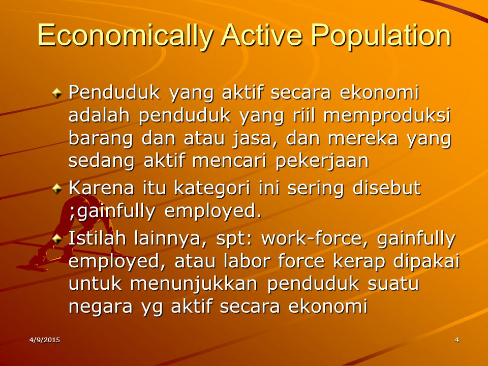 Economically Active Population
