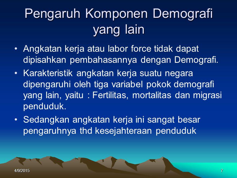 Pengaruh Komponen Demografi yang lain