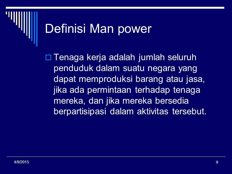 Definisi Man power