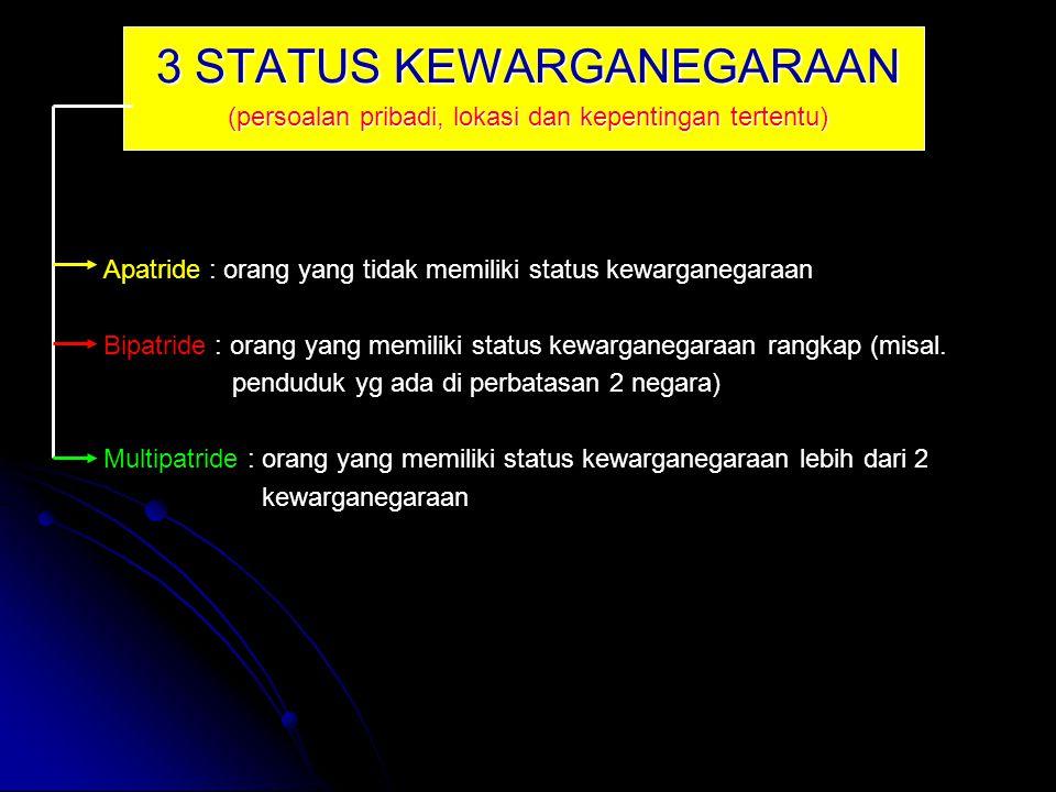 3 STATUS KEWARGANEGARAAN