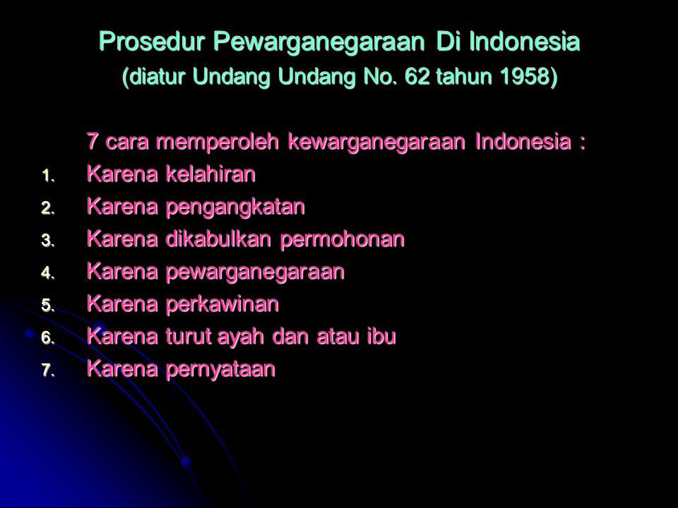 Prosedur Pewarganegaraan Di Indonesia