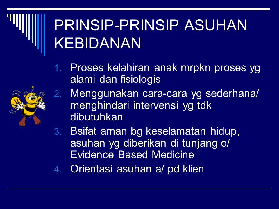 PRINSIP-PRINSIP ASUHAN KEBIDANAN
