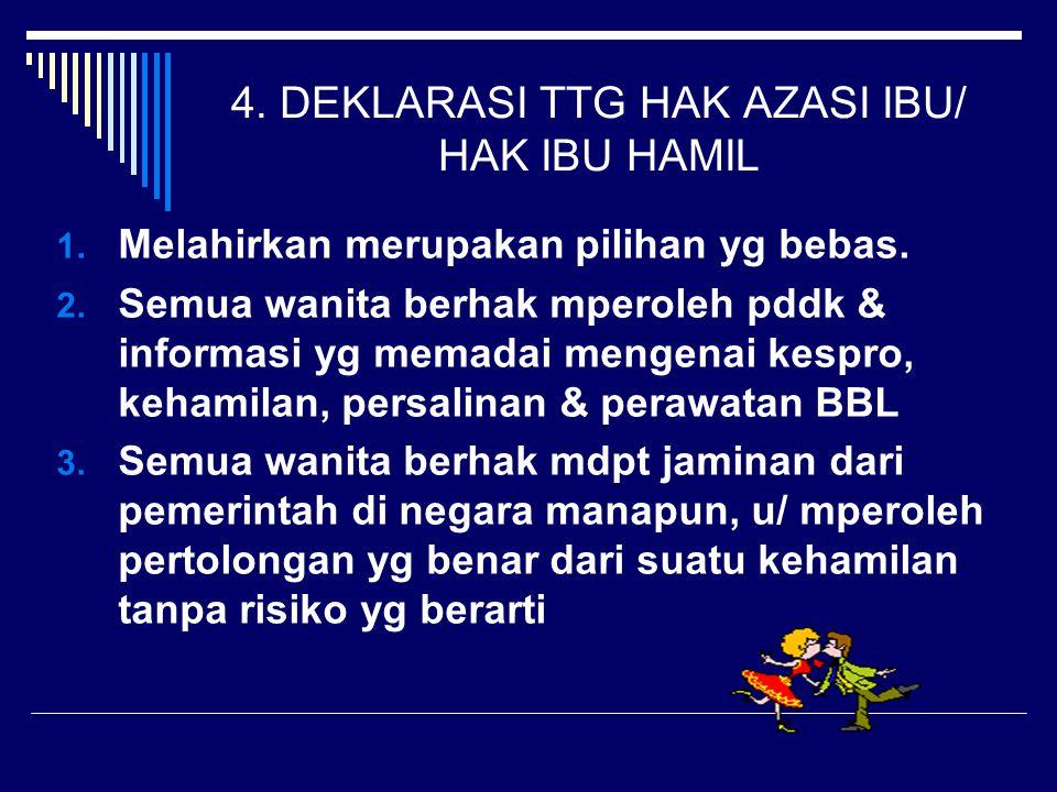 4. DEKLARASI TTG HAK AZASI IBU/ HAK IBU HAMIL