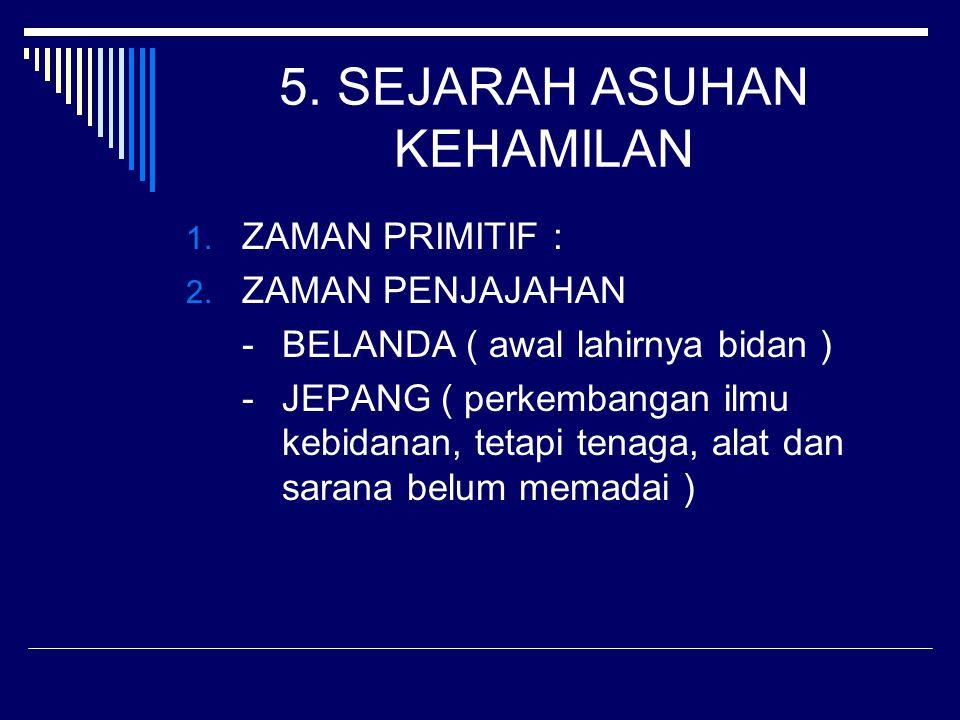 5. SEJARAH ASUHAN KEHAMILAN