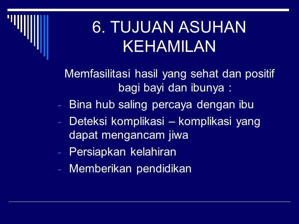 6. TUJUAN ASUHAN KEHAMILAN