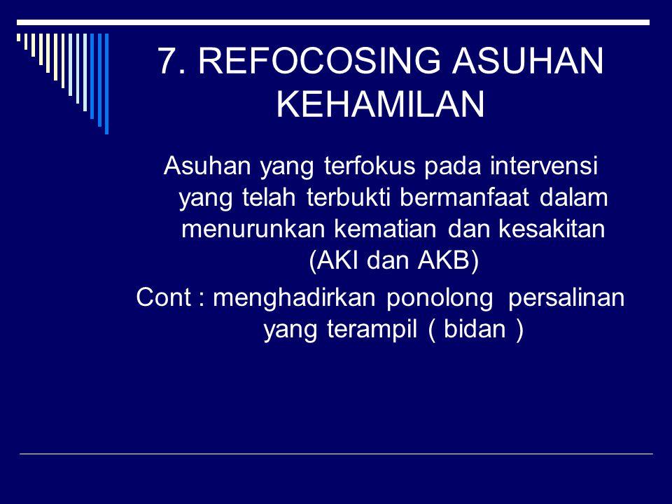 7. REFOCOSING ASUHAN KEHAMILAN