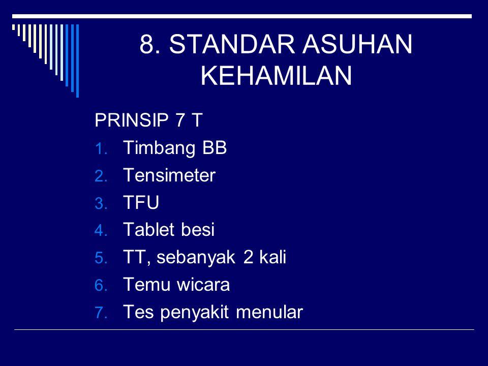 8. STANDAR ASUHAN KEHAMILAN