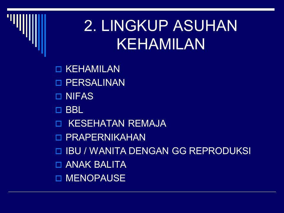 2. LINGKUP ASUHAN KEHAMILAN