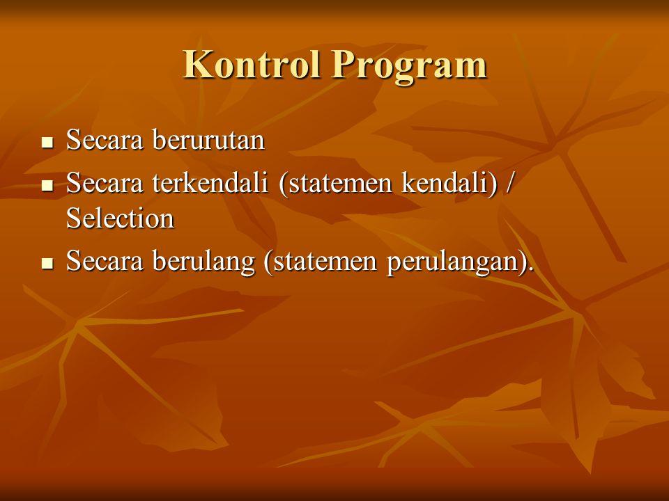 Kontrol Program Secara berurutan