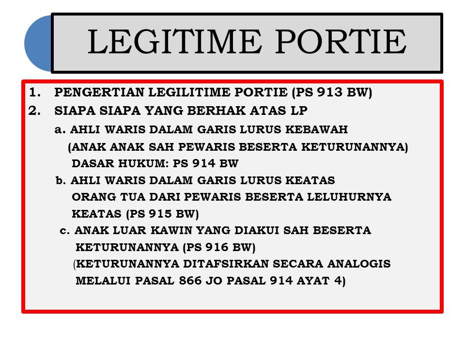 PENGERTIAN LEGILITIME PORTIE (PS 913 BW)