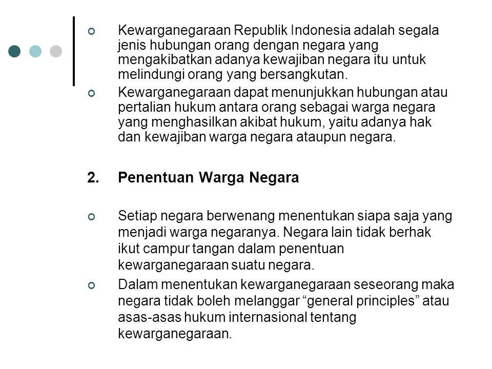 2. Penentuan Warga Negara