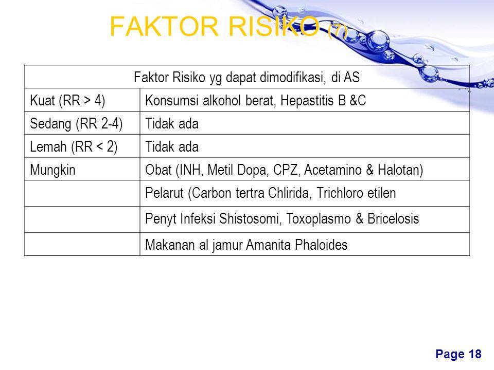 Faktor Risiko yg dapat dimodifikasi, di AS