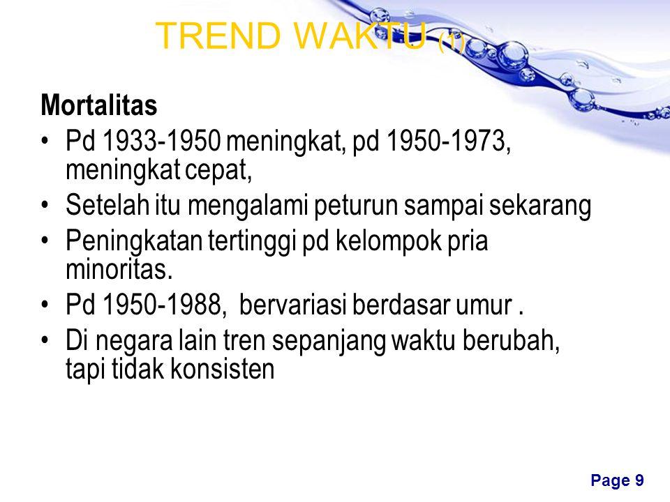 TREND WAKTU (1) Mortalitas