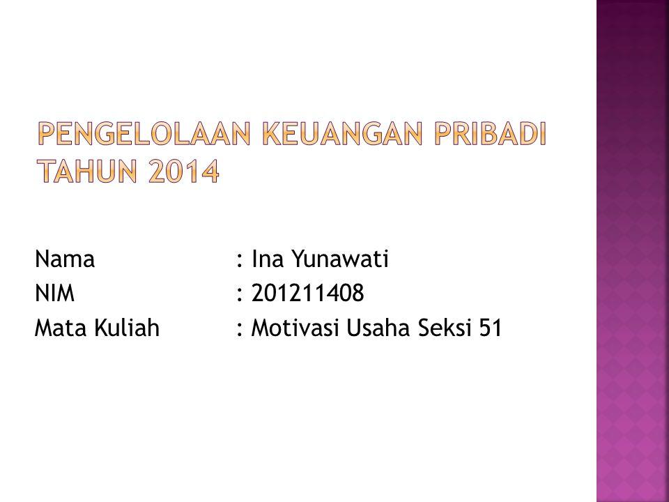 Pengelolaan Keuangan Pribadi Tahun 2014