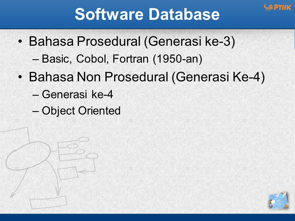Software Database Bahasa Prosedural (Generasi ke-3)