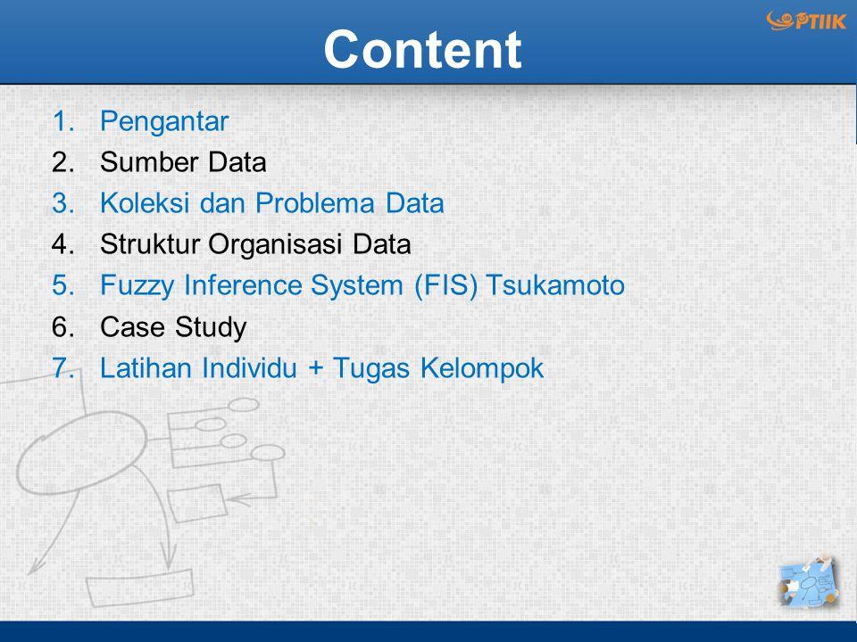 Content Pengantar Sumber Data Koleksi dan Problema Data