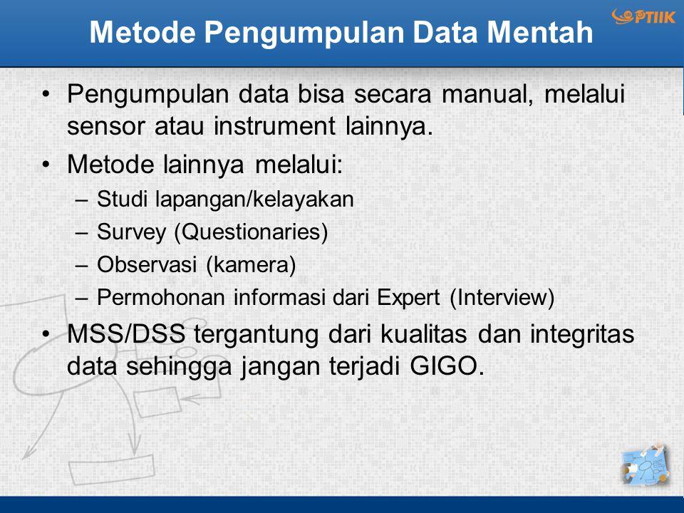 Metode Pengumpulan Data Mentah