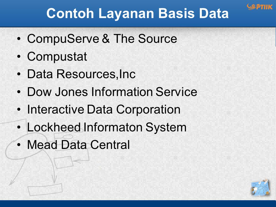 Contoh Layanan Basis Data