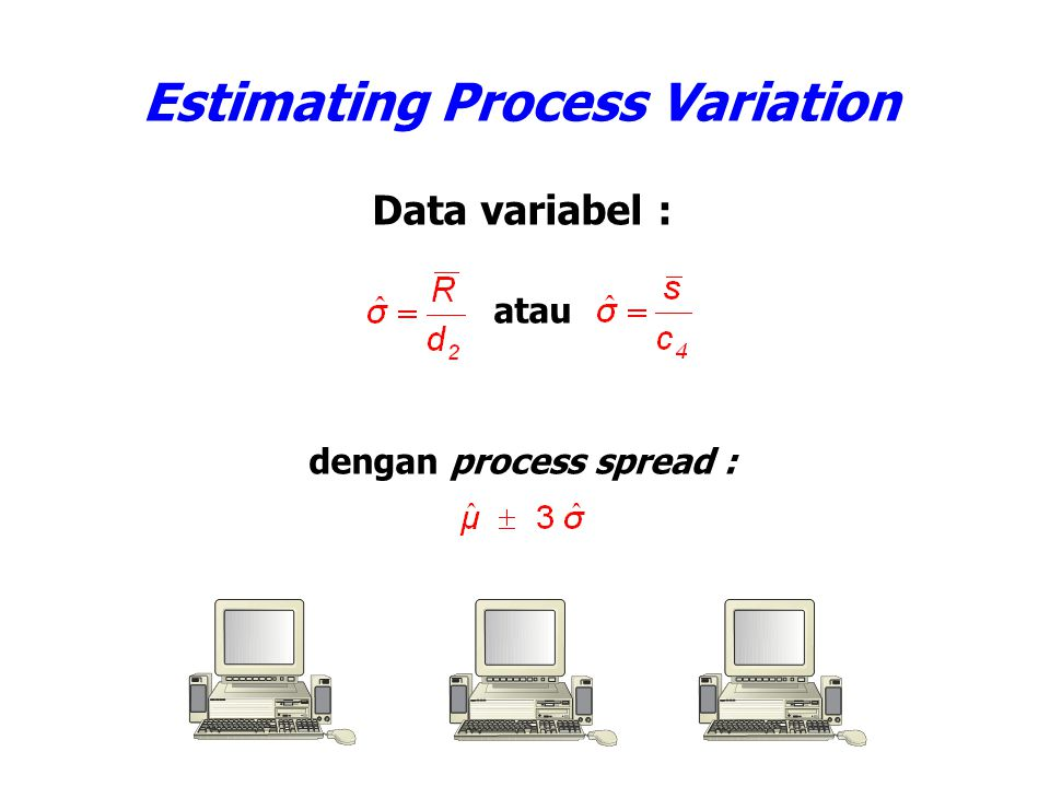 Estimating Process Variation dengan process spread :