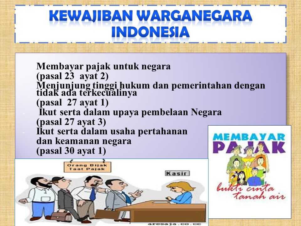 Kewajiban warganegara Indonesia
