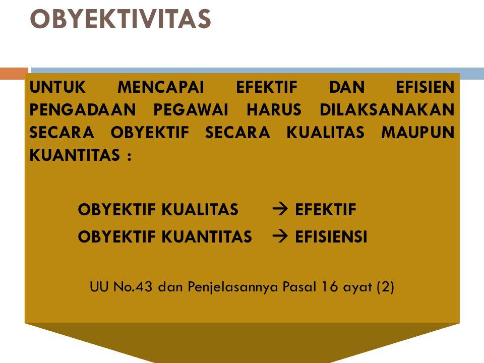 UU No.43 dan Penjelasannya Pasal 16 ayat (2)