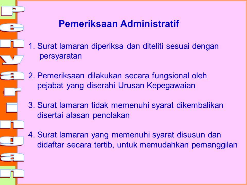 Penyaringan Pemeriksaan Administratif