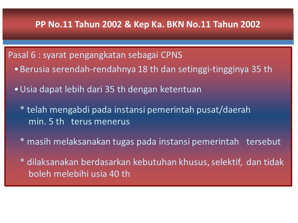 PP No.11 Tahun 2002 & Kep Ka. BKN No.11 Tahun 2002