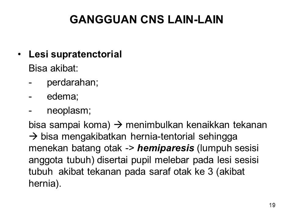 GANGGUAN CNS LAIN-LAIN