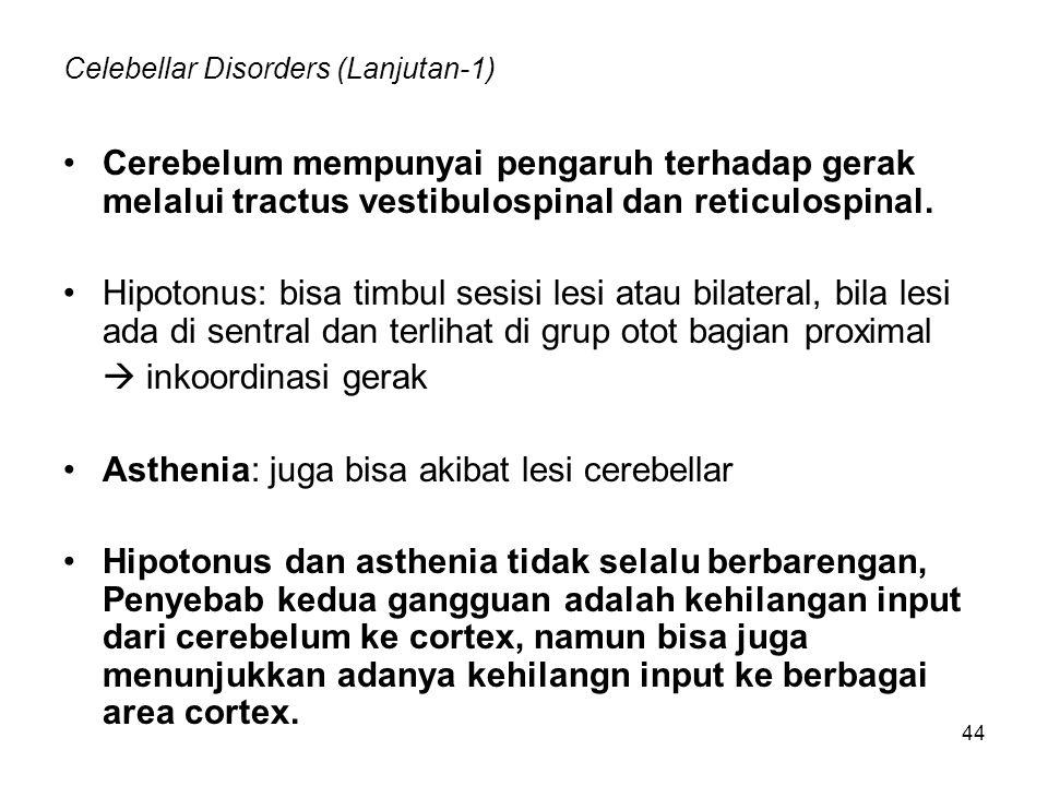 Celebellar Disorders (Lanjutan-1)