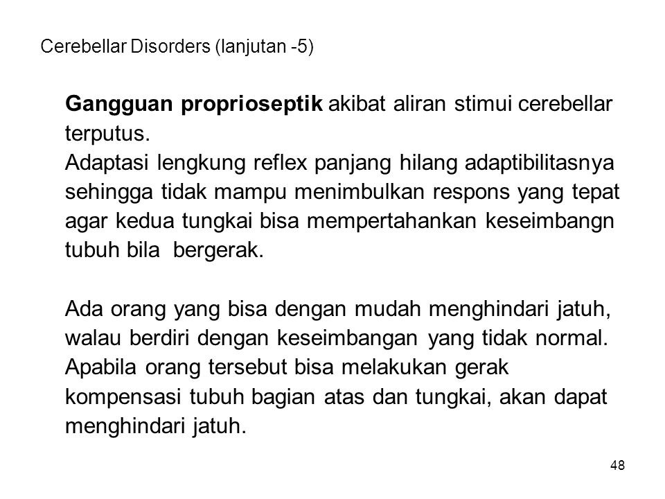 Cerebellar Disorders (lanjutan -5)