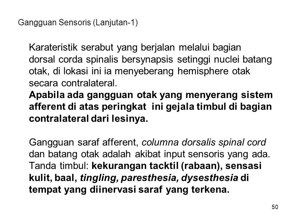 Gangguan Sensoris (Lanjutan-1)