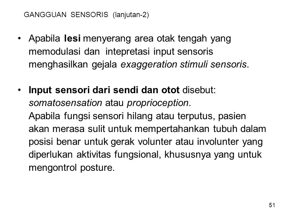 GANGGUAN SENSORIS (lanjutan-2)