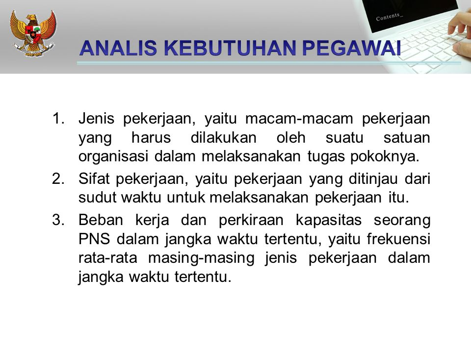 ANALIS KEBUTUHAN PEGAWAI