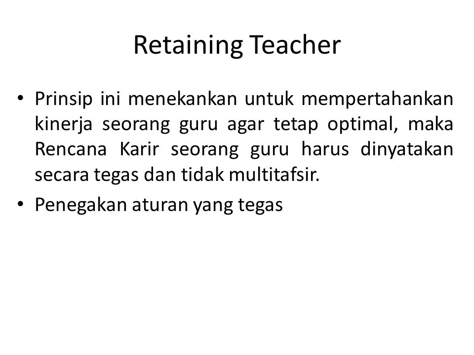 Retaining Teacher