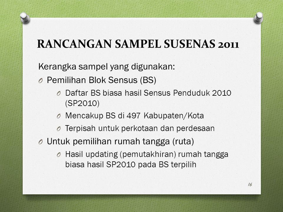 RANCANGAN SAMPEL SUSENAS 2011