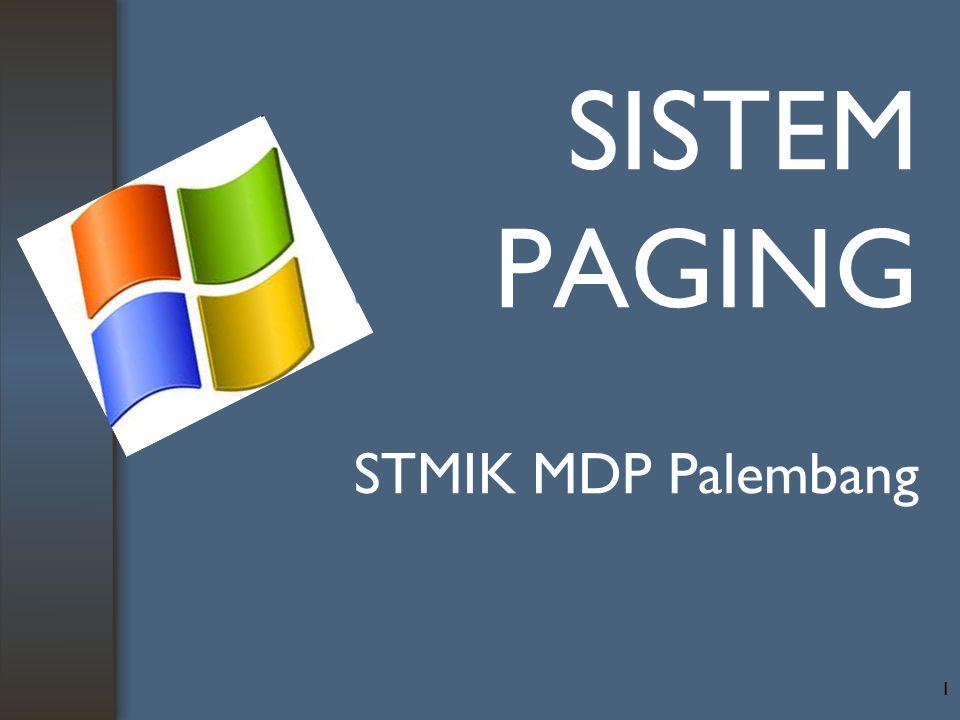 SISTEM PAGING STMIK MDP Palembang