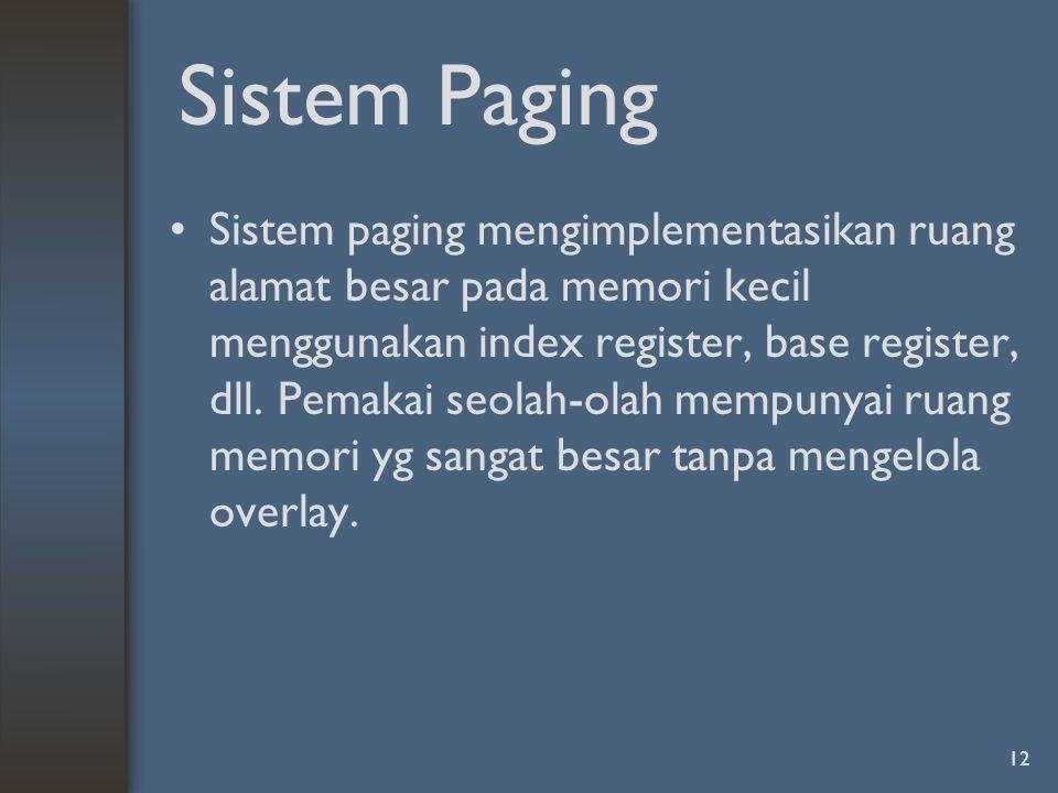 Sistem Paging
