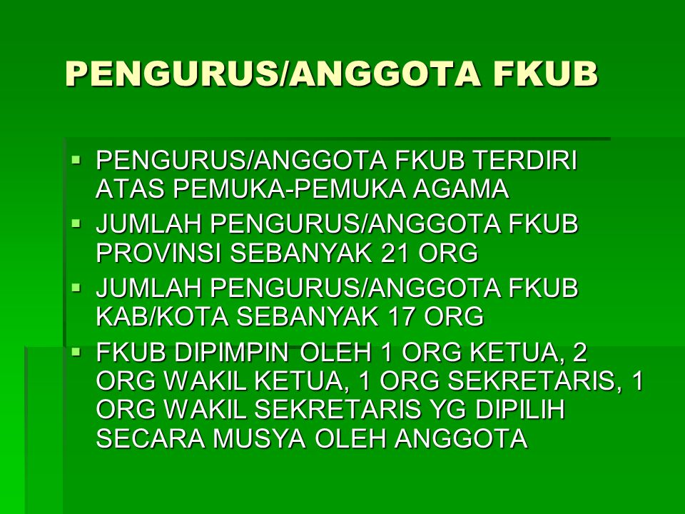 PENGURUS/ANGGOTA FKUB