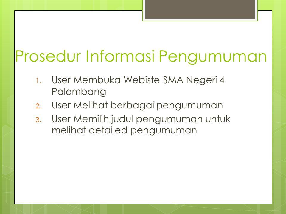 Prosedur Informasi Pengumuman