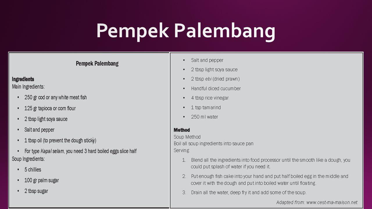 Pempek Palembang