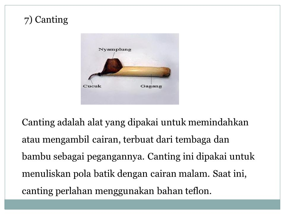 7) Canting