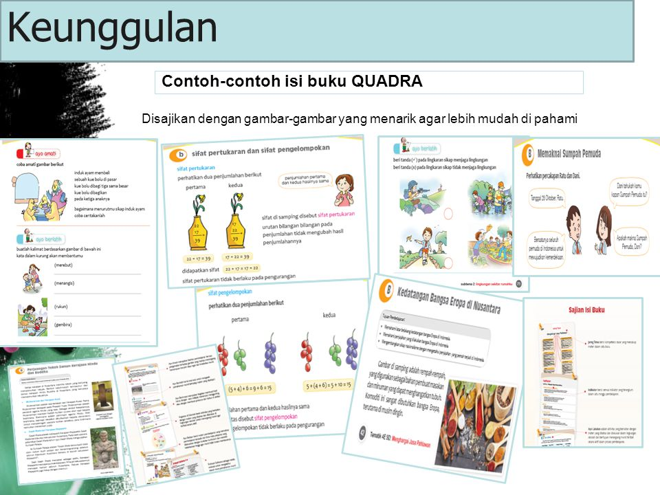 Keunggulan Contoh-contoh isi buku QUADRA