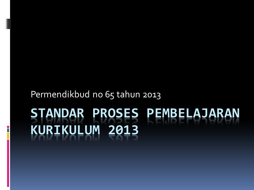 STANDAR PROSES Pembelajaran KurIKULUM 2013