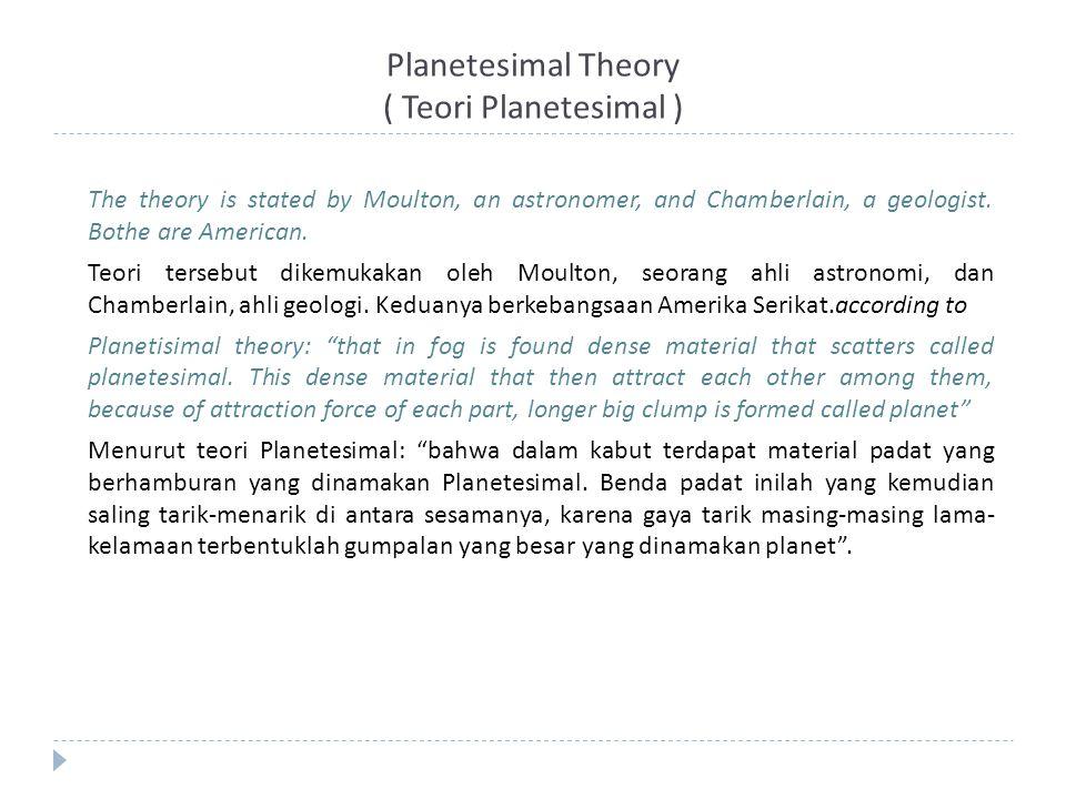 Planetesimal Theory ( Teori Planetesimal )
