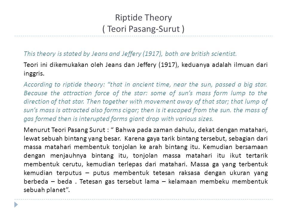 Riptide Theory ( Teori Pasang-Surut )